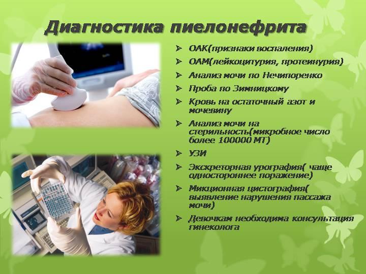 пиелонефрит методы диагностики