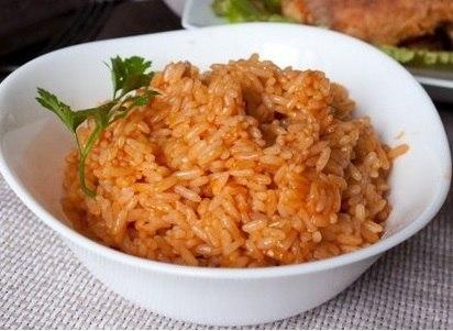 Красный рис на завтрак