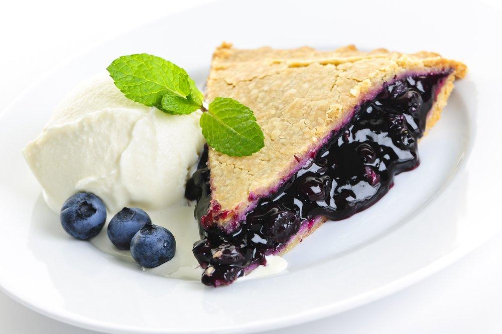 Пирог из черники замороженной