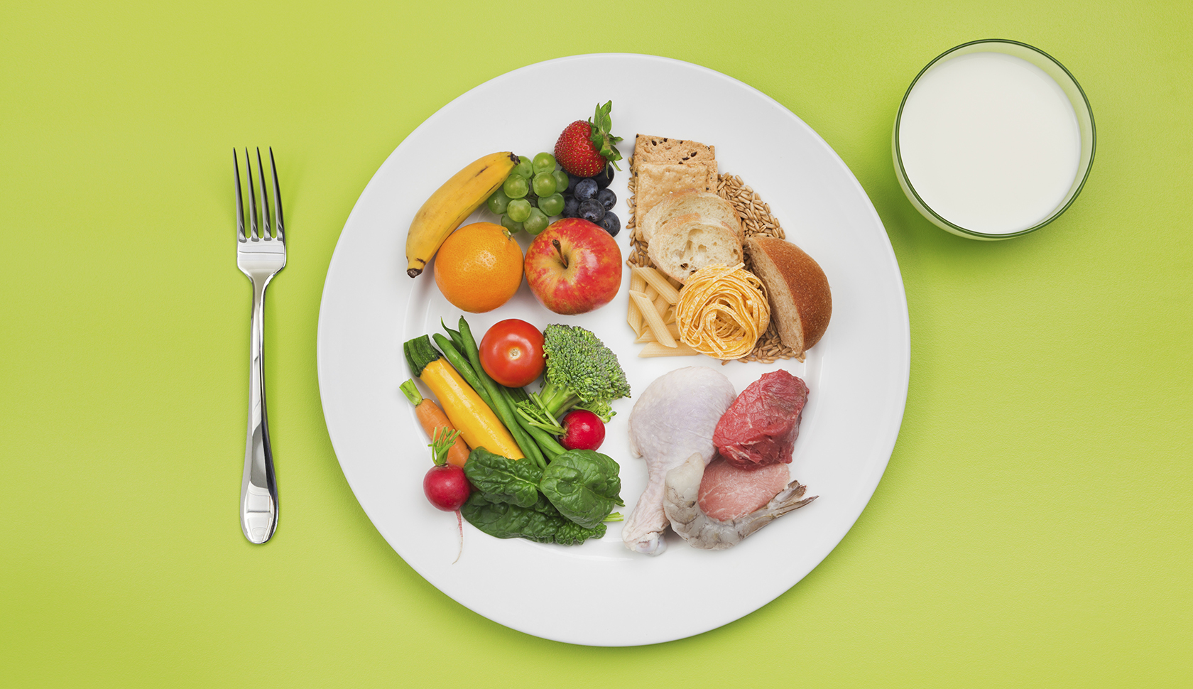 New USDA ChooseMyPlate Basic Food Group, Healthy Eating Diet Recommendation
