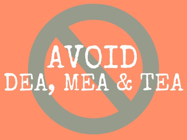 DEA-MEA-TEA