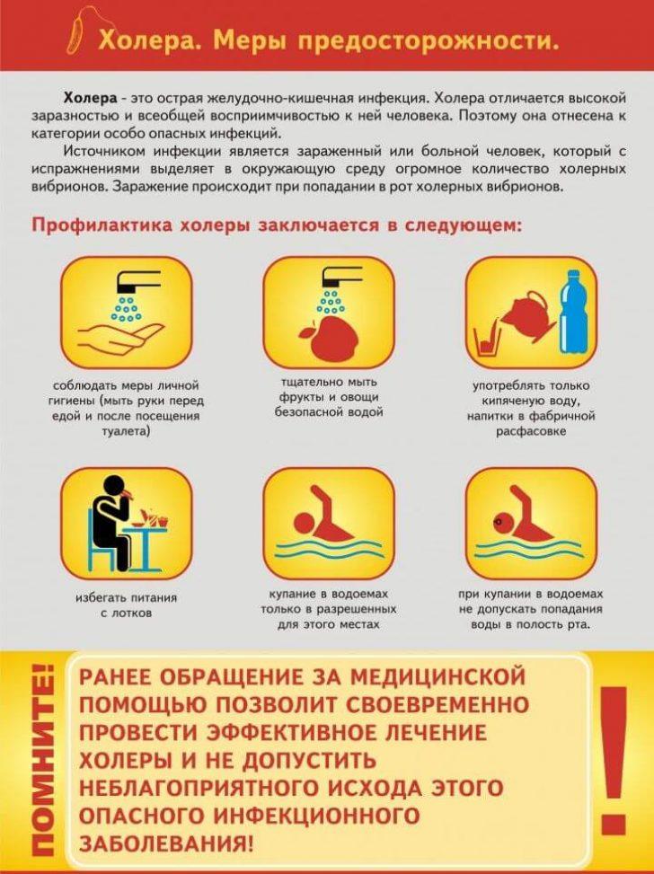 Укладки для заболевания холера