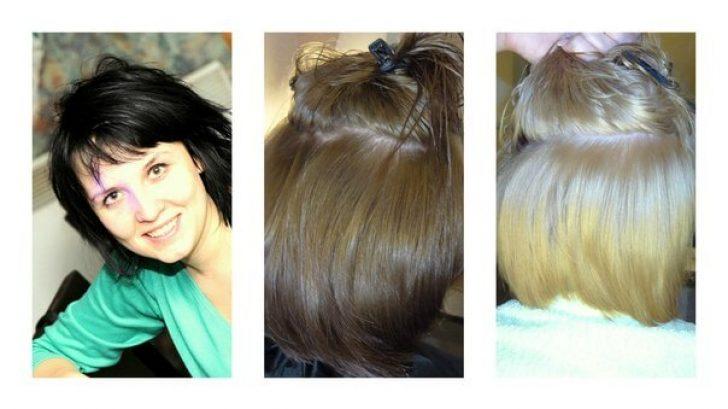 Как сделать смывку краски с волос