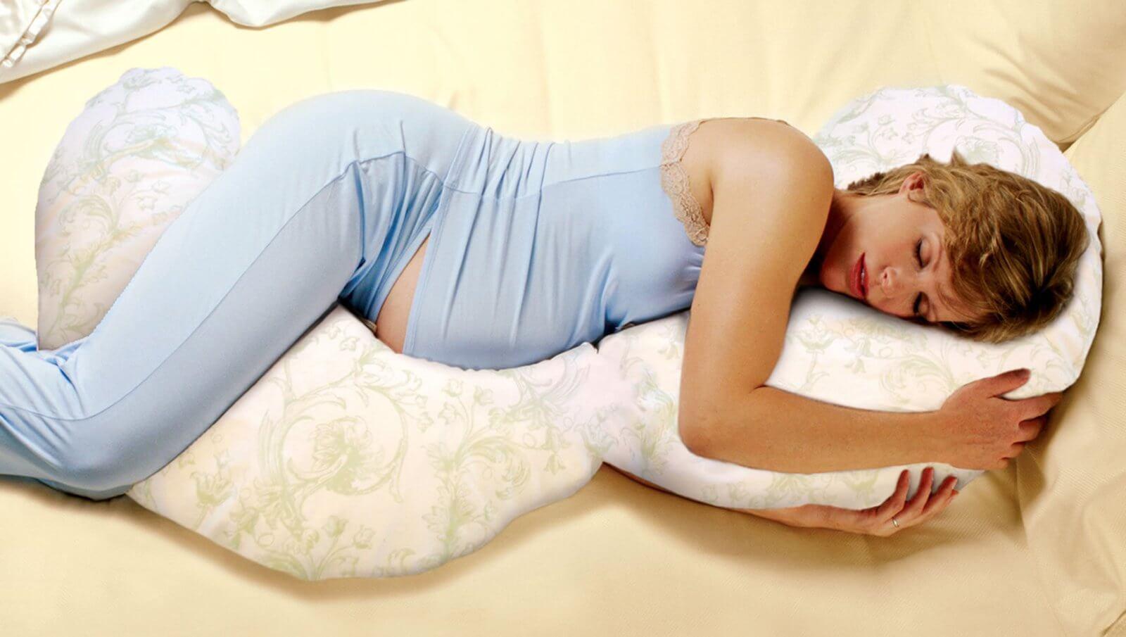 Фото как спят беременные с подушкой