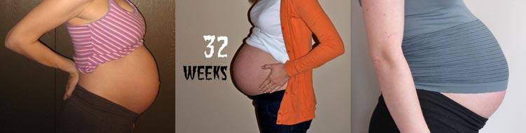 фото живот на 32 неделе беременности