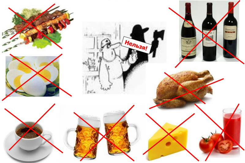 Что нельзя есть при подагре