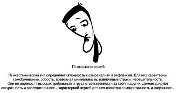 Симптомы психастенической психопатии