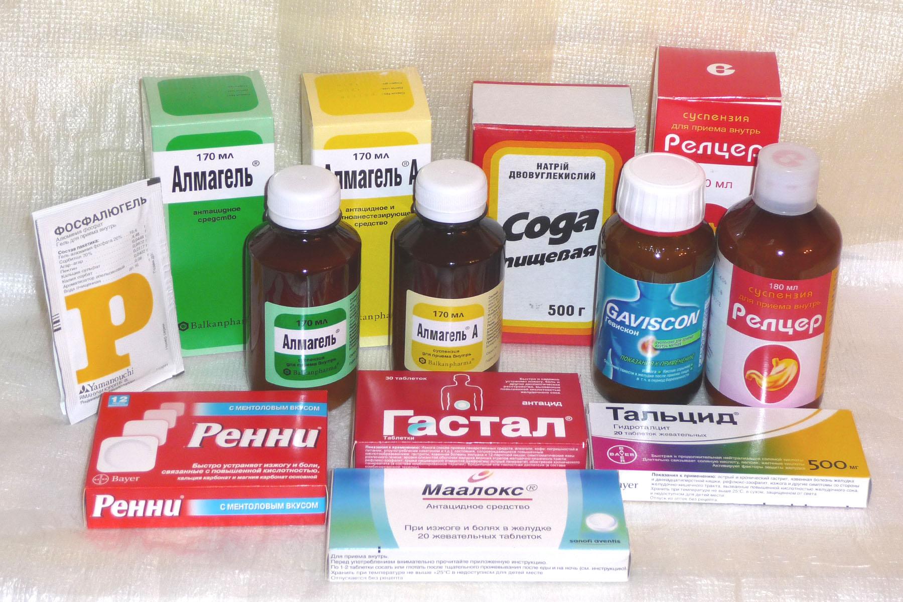 Медикаментозное лечение изжоги