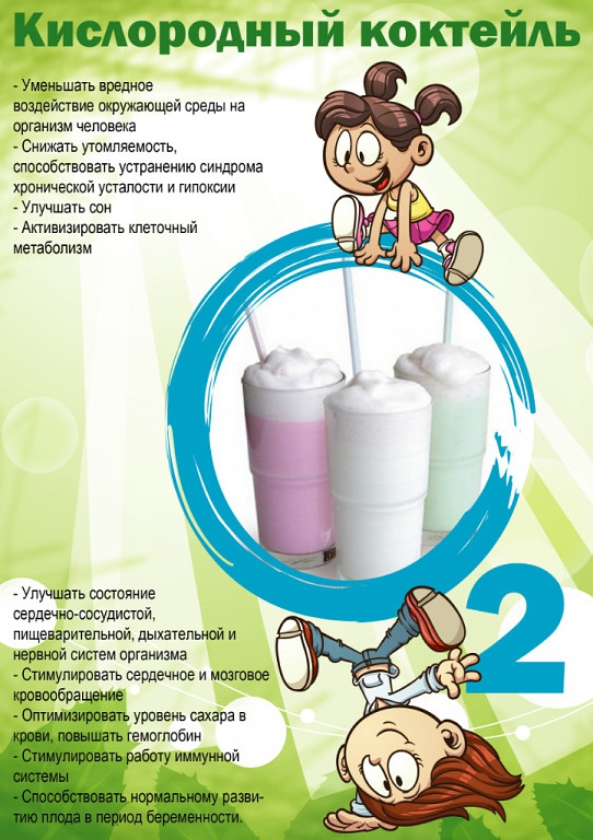 Картинка кислородного коктейля для детей