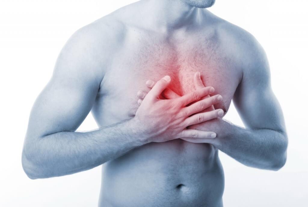 Что находится между грудями